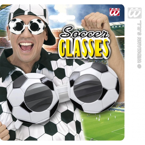 SOCCER/FOOTBALL GLASSES Accessory for Fancy Dress