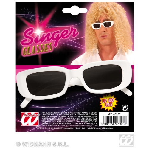 GLASSES WHITE SINGER Accessory for Fancy Dress
