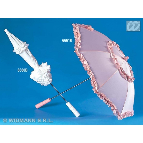 WHITE UMBRELLA BELLE EPOQUE 72cm Accessory for Beauty fairytale Princess Fancy Dress
