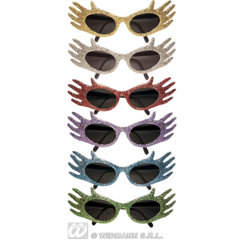 GLASSES GLITTER SPACE JAM 6 colours Accessory for Sci Fi NASA Astronaut Alien UFO Fancy Dress
