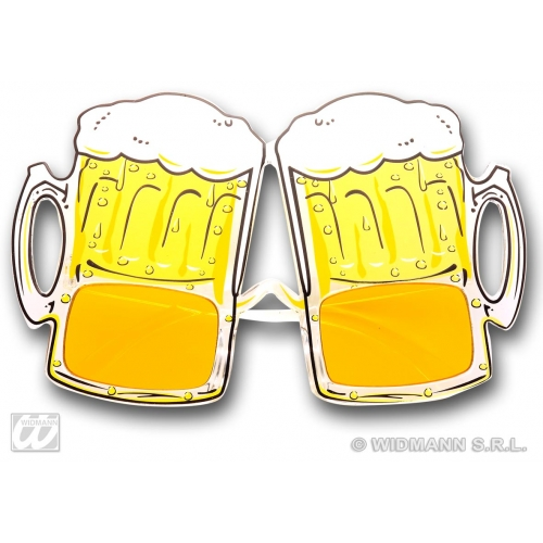 BEER EYE GLASSES Accessory for Alcohol Pub Drink Fancy Dress