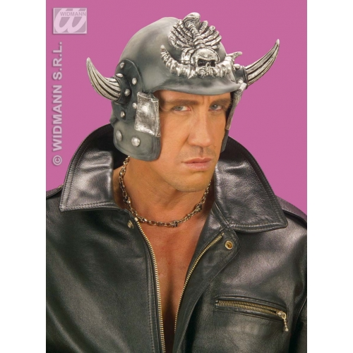 SAMURAI HELMET LATEX Hat Accessory for Oriental Ninja Fancy Dress
