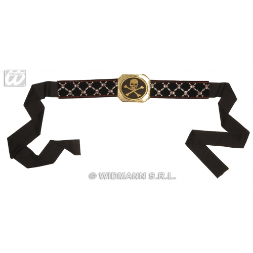 PIRATE BELT WITH BUCKLE Accessory for Buccaneer Sailor Jack Blackbeard Fancy Dress