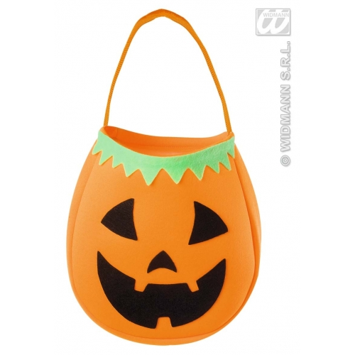 PUMPKIN HANDBAG Accessory for Halloween Trick Or Treat Fancy Dress