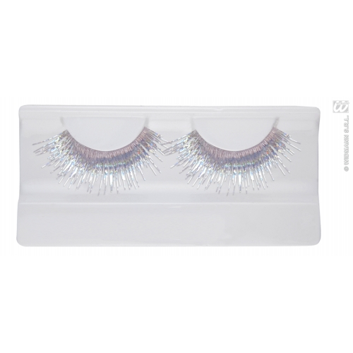 METALLIC SILVER EYELASHES (glass glue bottle) SFX for Cosmetics