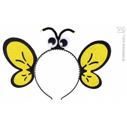 BEE HEADPIECES Accessory for Bumble Wasp Insect Fancy Dress