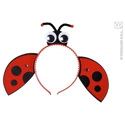 LADYBUG HEADPIECES Accessory for Ladybird Bug Insect Creepy Crawly Fancy Dress