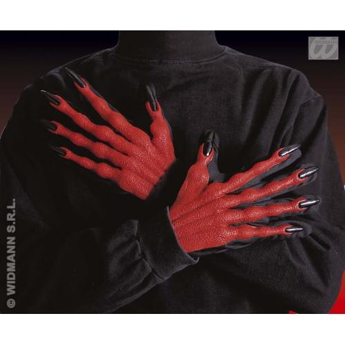 Adult Unisex DEVIL GLOVES 3D Accessory for Satan Lucifer Demon Antichrist Hallow