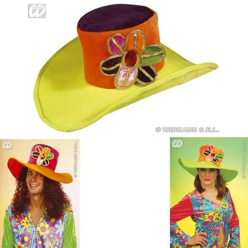 VELVET FLOWER HAT Accessory for Fancy Dress