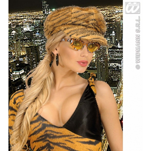 TIGER CAP Hat Accessory for Indian Jungle Animal Cat Feline Fancy Dress