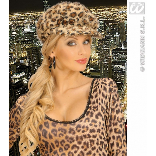 LEOPARD CAP Hat Accessory for Spotty Cat Jungle Animal Fancy Dress