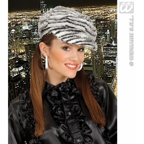 ZEBRA CAP Hat Accessory for African Striped Donkey Animal Fancy Dress