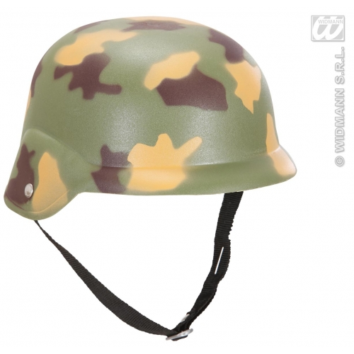 CAMOUFLAGE HELMET Hat Accessory for Army Soldier Superhero Fancy Dress