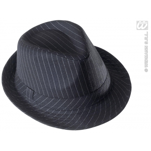 GANGSTER HAT STRIPED Accessory for 20s 30s Mobster Mob Criminal Fancy Dress