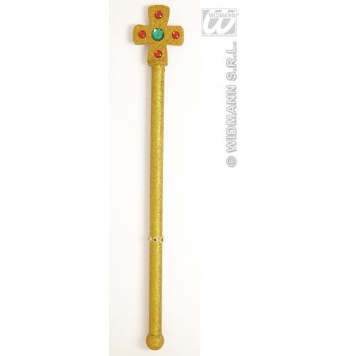 KING QUEEN SCEPTERS 54cm Accessory for Royal Regal Sire Medieval Leader Ruler Plastic Novelty Toy