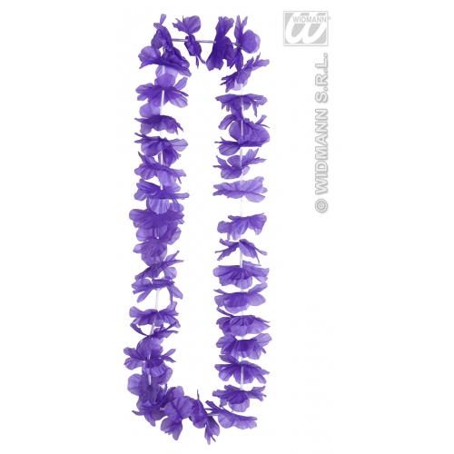 PURPLE HAWAIIAN LEIS Accessory for Hawaii Tropical Beach Magnum Five O Fancy Dress Party