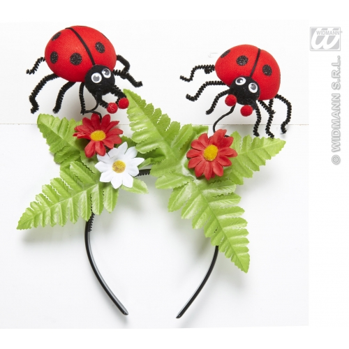 LADYBUG HEAD BOPPERS W/FLOWERS Accessory for Ladybird Bug Insect Creepy Crawly F