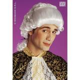 CHEVALIER WIG BOXED WHITE Accessory for Regency Prince Gentlemen Fancy Dress