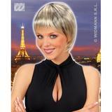 BLONDE/BLACK SHORT STRAIGHT PARIS WIG Accessory for Fancy Dress