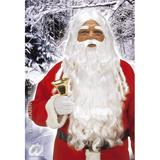 SANTA CLAUS WIG BEARD SET DELUXE Accessory for Father Christmas Fancy Dress