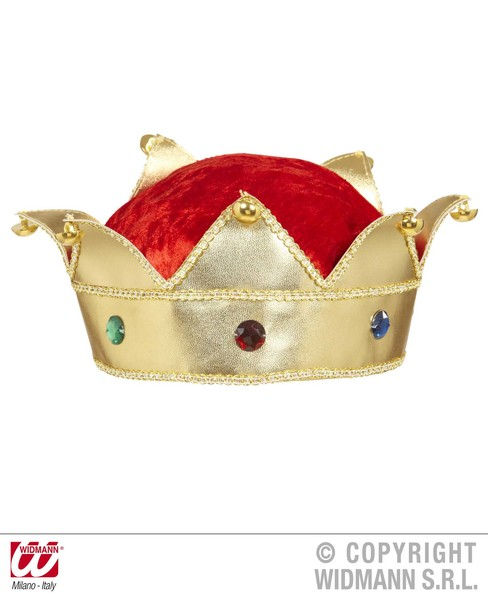 KING & QUEEN CROWNS WITH GEMS Accessory for Royal Regal Sire Medieval Leader Ruler Fancy Dress