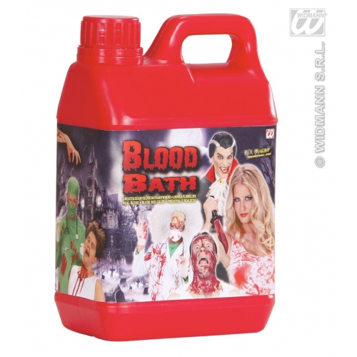 BLOOD BATH JERRY CAN 1.89L SFX for Bleeding Wound Vampire Cosmetics