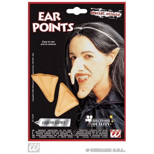 WITCH EAR TIPS POINTS WITH ADHESIVE Accessory for Halloween Oz Eastwick Fancy Dress