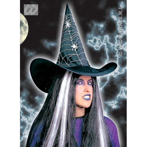 WITCH HAT PRINTED Accessory for Halloween Oz Eastwick Fancy Dress