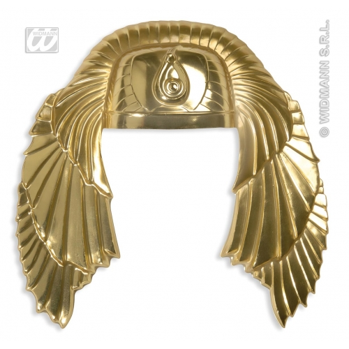 GOLDEN EGYPTIAN HEADRESS Accessory for Ancient Pharaoh Egypt Fancy Dress
