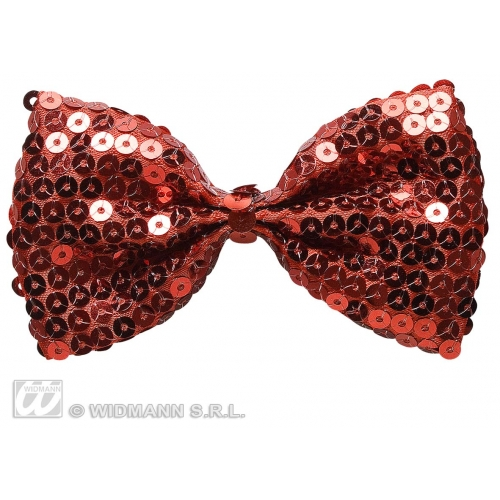 RED PERFORMER SEQUIN BOW TIE Decoration for Hollywood Show Party