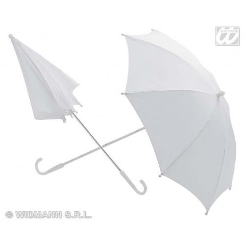 UMBRELLA WHITE 60cm Accessory for Fancy Dress