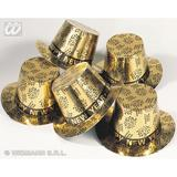 GOLD TOP HAT NEW YEAR PRINT Accessory for Fancy Dress