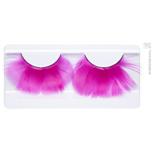 PINK FEATHER EYELASHES (glass glue bottle) SFX for Cosmetics