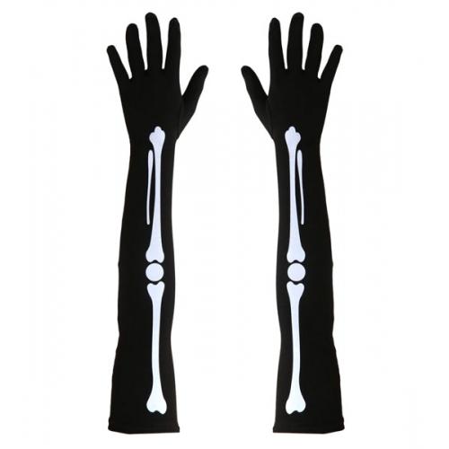 Adult Unisex BONE GLOVES Accessory for Skeleton Pirate Dinosaur Fancy Dress 1Size Unisex Mens