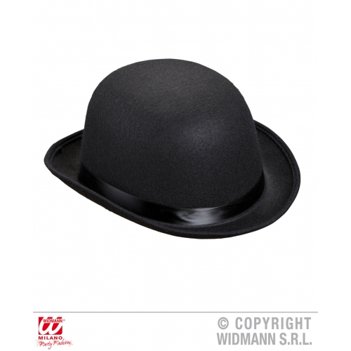 DELUXE BOWLER HAT FELT Accessory for Laurel hardy Victorian Fancy Dress