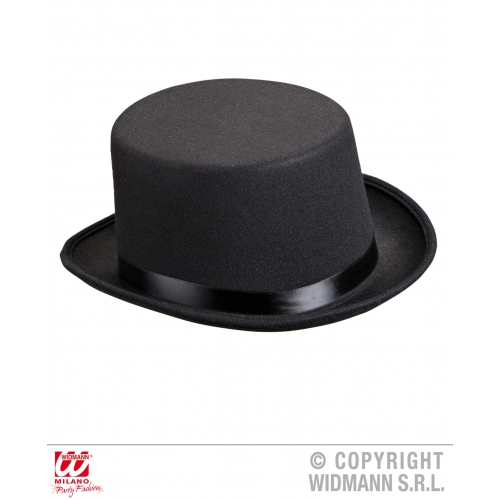 VICTORIAN DELUXE TOP HAT FELT Accessory for 18th Century Dickensian Edwardian Fa