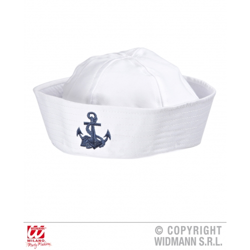 ANCHOR SAILOR HAT WITH DESIGN Accessory for Navy Crew Military Seaman Fancy Dres