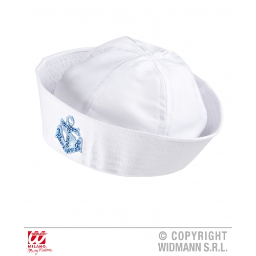 SEQUIN ANCHOR SAILOR HAT WITH DESIGN Accessory for Navy Crew Military Seaman Fan