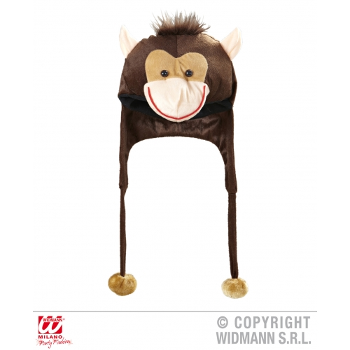 MONKEY HAT Accessory for Chimpanzee Ape Cheeky Animal Primate Fancy Dress