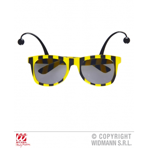 BEE GLASSES WITH ANTENNAS Accessory for Bumble Wasp Insect Fancy Dress