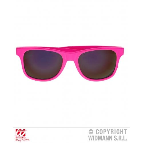 80s PINK WAYFARER GLASSES WITH REVO LENSES Accessory for 80s Disco Pop Retro Fan
