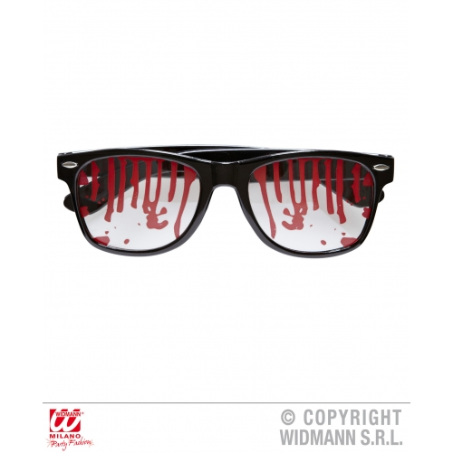 BLOODY GLASSES Accessory for Bleeding Wound Vampire Fancy Dress