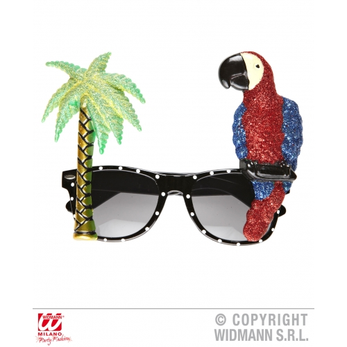 PARROT TROPICAL GLASSES Accessory for Tropical Bird Animal Fancy Dress