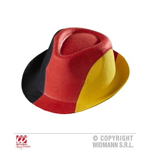 Felt GERMANY FEDORA Hat Accessory for Oktoberfest Bavarian European Fancy Dress