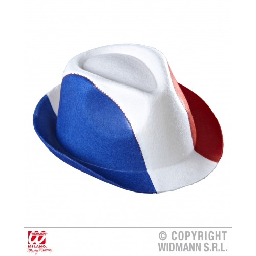 Felt FRANCE FEDORA Hat Accessory for French National Dress Fancy Dress