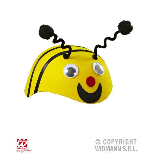 Felt BEE CAP Hat Accessory for Bumble Wasp Insect Fancy Dress