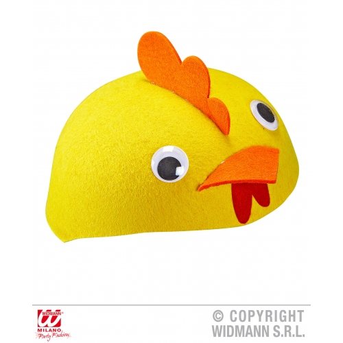 Felt CHICKEN CAP Hat Accessory for Rooster Chick Easter Farm Animal Fancy Dress