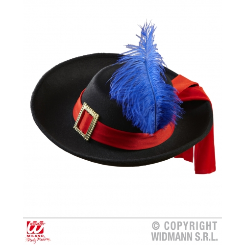 Boys REAL LOOK MUSKETEER HAT SIZE Accessory for Athos Aramis d'Artagnan Fancy Dr