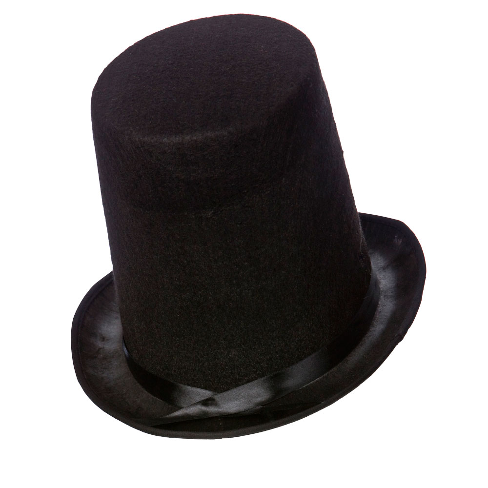 Dickensian Stovepipe Hat 20cm Tall for Dickens Victorian Edwardian Fancy Dress
