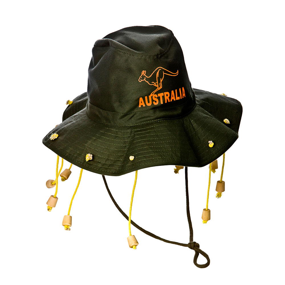 Australian Hat (No Tangle Packing) for Aussie Australian Antipodean Fancy Dress
